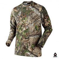 تی شرت شاخ و برگ جنگلی آستین بلند مدل استتار